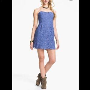 Free People strapless lace dress.